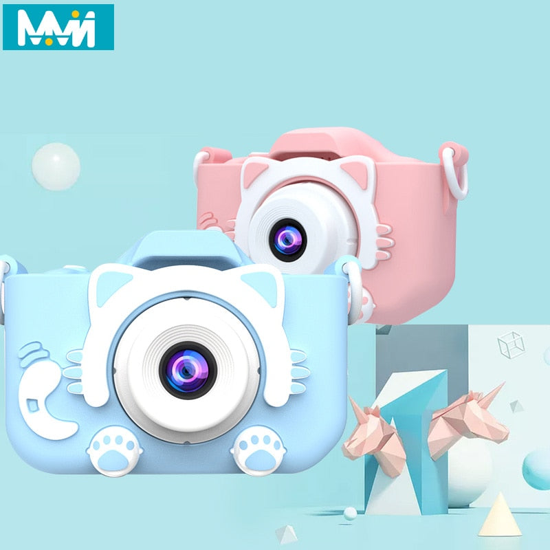 3 in One Cute Cat Dual Camera for Kids