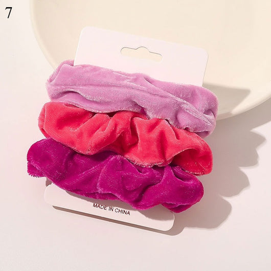 1 Set Scrunchies Women Ponytail Hair Accessories 4-6Pcs Girls Hairbands Gifts