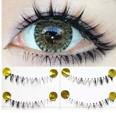 10Pairs Hand made low eye lashes