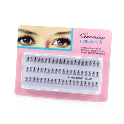 60 PCS/Set Black Fake Eyelash Extension