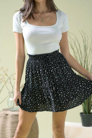 Feeling Wild Skirt in Black
