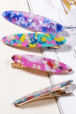 Acrylic Hair Clips - Set of 2