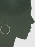 Chain Hoop Earrings - 2 inch