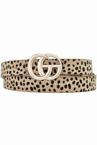 Cheetah Fur Go Girl Belt