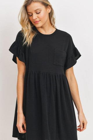 Be Confident Babydoll Dress in Black