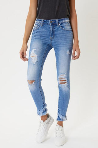 Worth The Wait Distressed Skinny Jeans