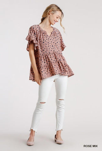 Dalmatian Obsession Top in Pink