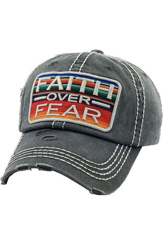 Faith Over Fear Baseball Cap Hat