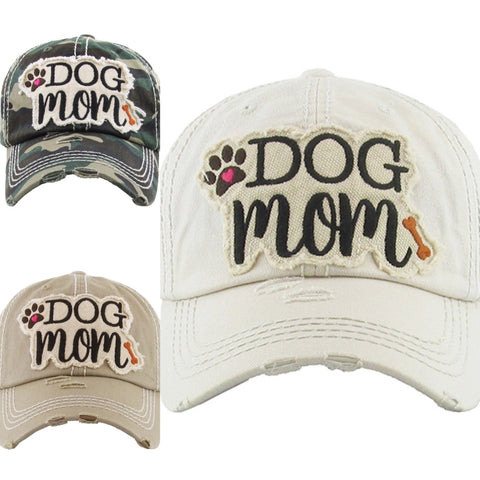Dog Mom Vintage Baseball Cap Hat