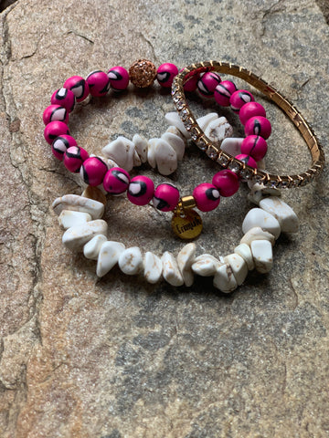 Set of 3 Stretchable Bracelets - Wild Thing