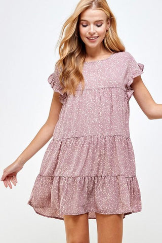 Long Walks Spotted Dress in Pink