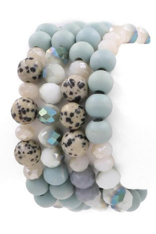 Caroline Bracelet Set of 4 - Mint
