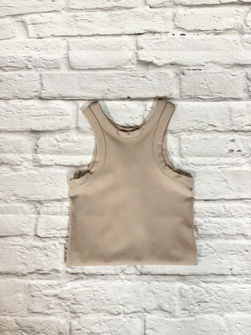 Seamless Bodysuit in Tan