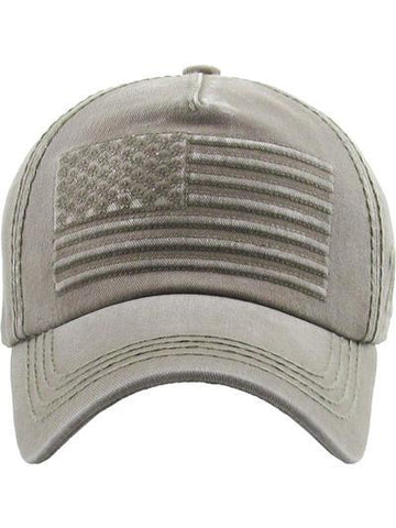 Vintage Washed American Flag Baseball Cap Hat
