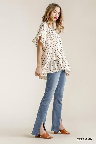 Dalmatian Obsession Top in Ivory