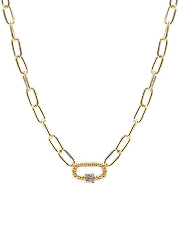 Chunky Chain Necklace with Screwlock Pendent