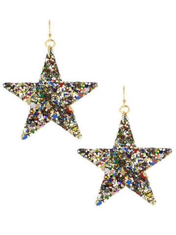 Shine Bright Star Sequin Earrings - Gold