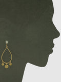 Teardrop Charm Earrings