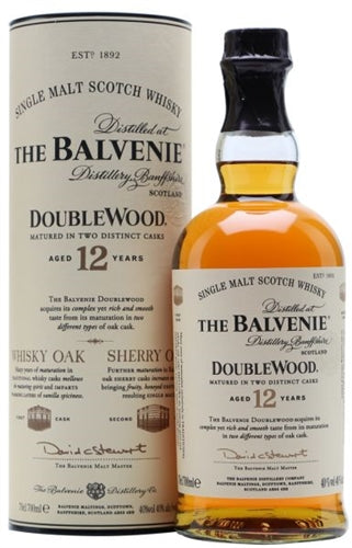 Balvenie Doublewood Single Malt Scotch Whisky Aged 12YR 750ML