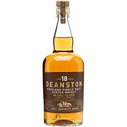 Deanston 18 Year Highland Single Malt scotch Whisky 750ml