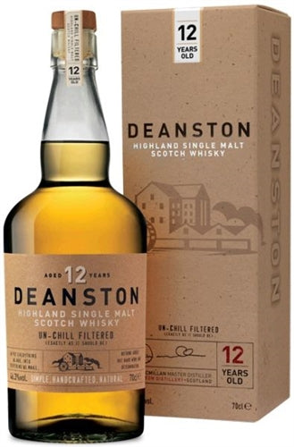Deanston 12 YR Single Malt Scotch Whiskey Un-Chill Filtered 750ML