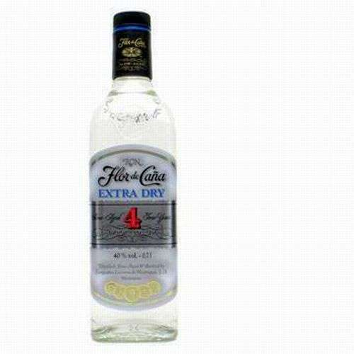 Ron Flor De Cana Extra Seco White Rum 4 years 750ml