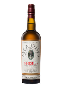 McCarthy's Oregon Single Malt Pot Distilled Whiskey 2011