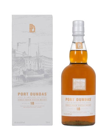 Port Dundas 18 Yrs Single Grain Scotch Whisky 750ml