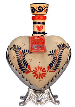 Load image into Gallery viewer, Grand Love Heart Hand Painted Ceramic Par 72 Tequila Extra Anejo 750ml