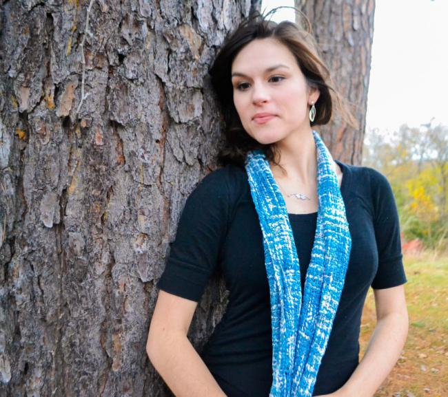 Summer Blues Silk Scarf