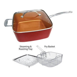 [ORIGINAL] 5-in-1 COPPER SQUARE PAN with Bonus Items