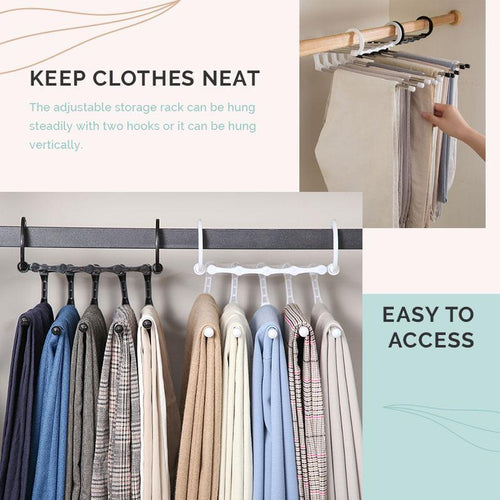 [BUY 1 TAKE 1 FREE] MULTIFUNCTIONAL CLOTHES HANGER STAINLESS