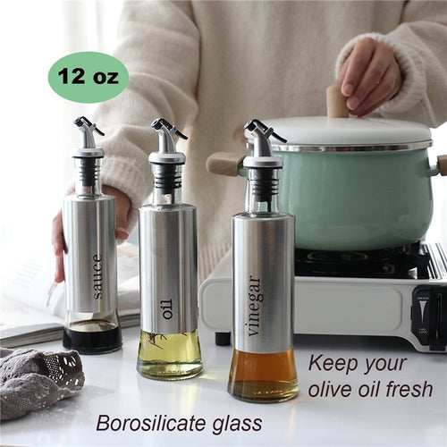 [Buy 1 take 1 FREE] Stainless Oil & Condiments Dispenser Leak-Free