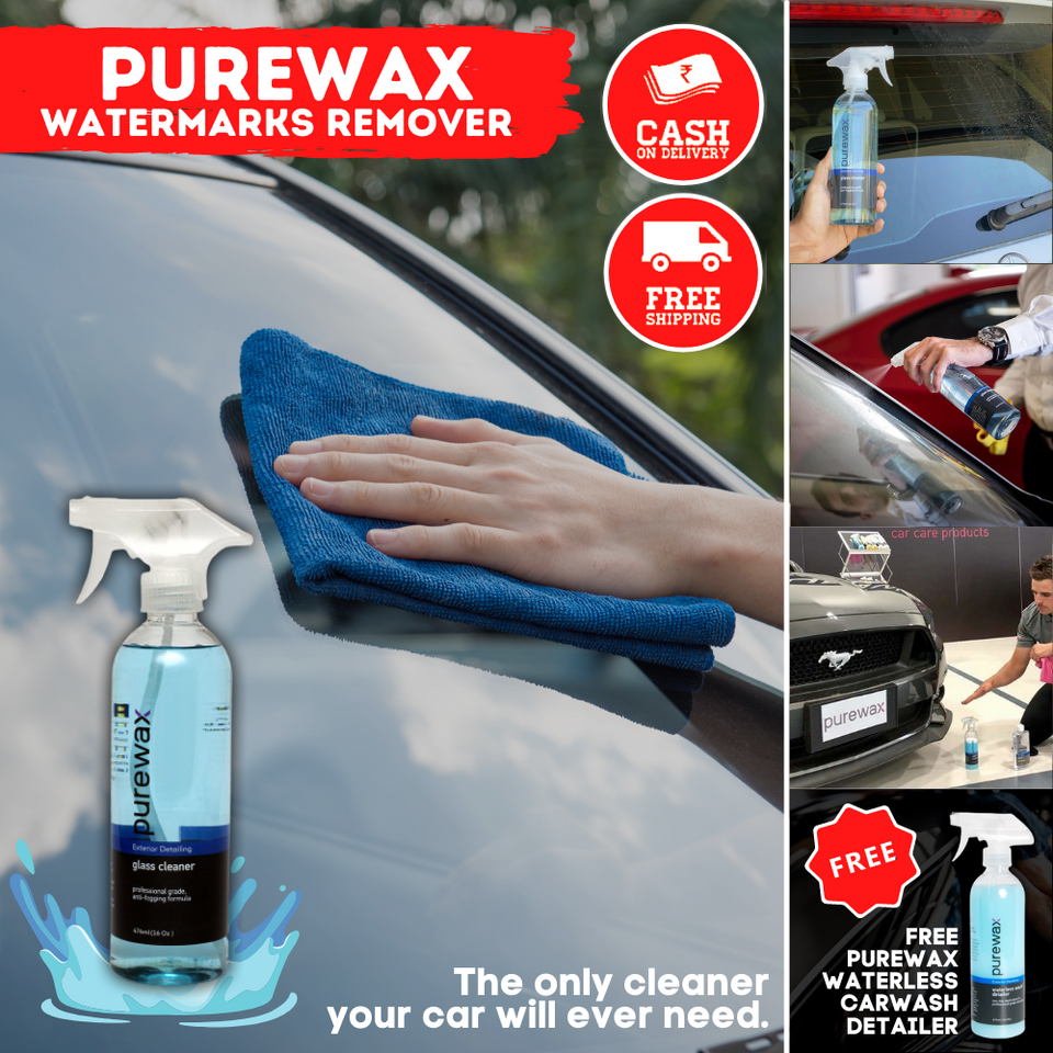 PureWax™ Watermarks/Acid Rain Remover w/ FREE Auto Detailer [Made in USA]