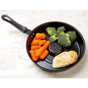 Non-stick Dry Fry Pan with Glass Lid [ Authentic ]