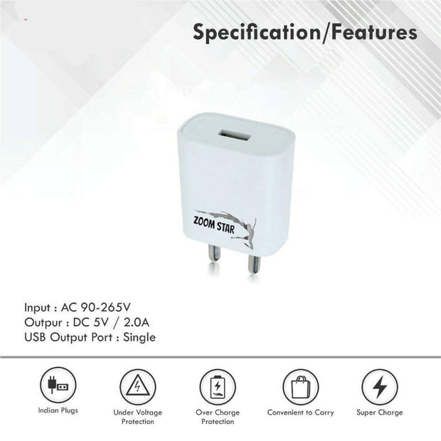2 Amp Fast Charger With Charge & Sync USB Cable