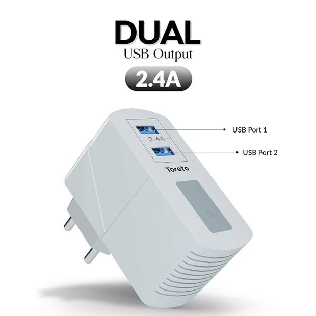 Toreto Remix-Duo, 513 Dual USB Charger Adapter
