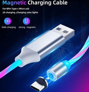 360 Degree 2.1A Fast Magnetic LED Charging Cable