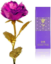 Best Valentine's Day Gift Pink Rose Flower Present 24K Golden Foil Life Long and Luxury Gift Box