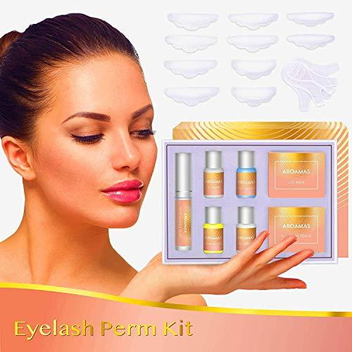 Aroamas Eyelash Perm Kit Full Eyelash Lift Kit – Professional Quality, Lotion & Liquid Set