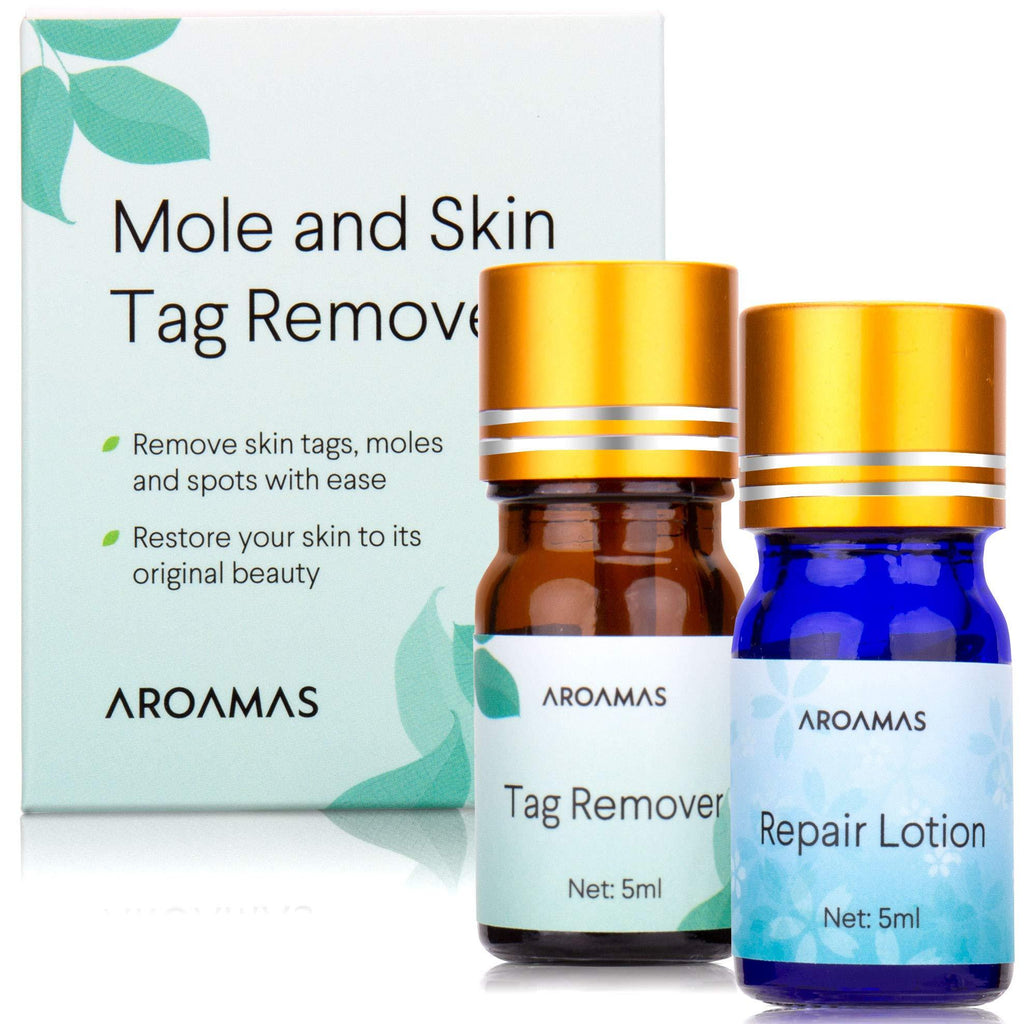 Aroamas Advanced Mole and Skin Tag Remover and Repair Lotion Set