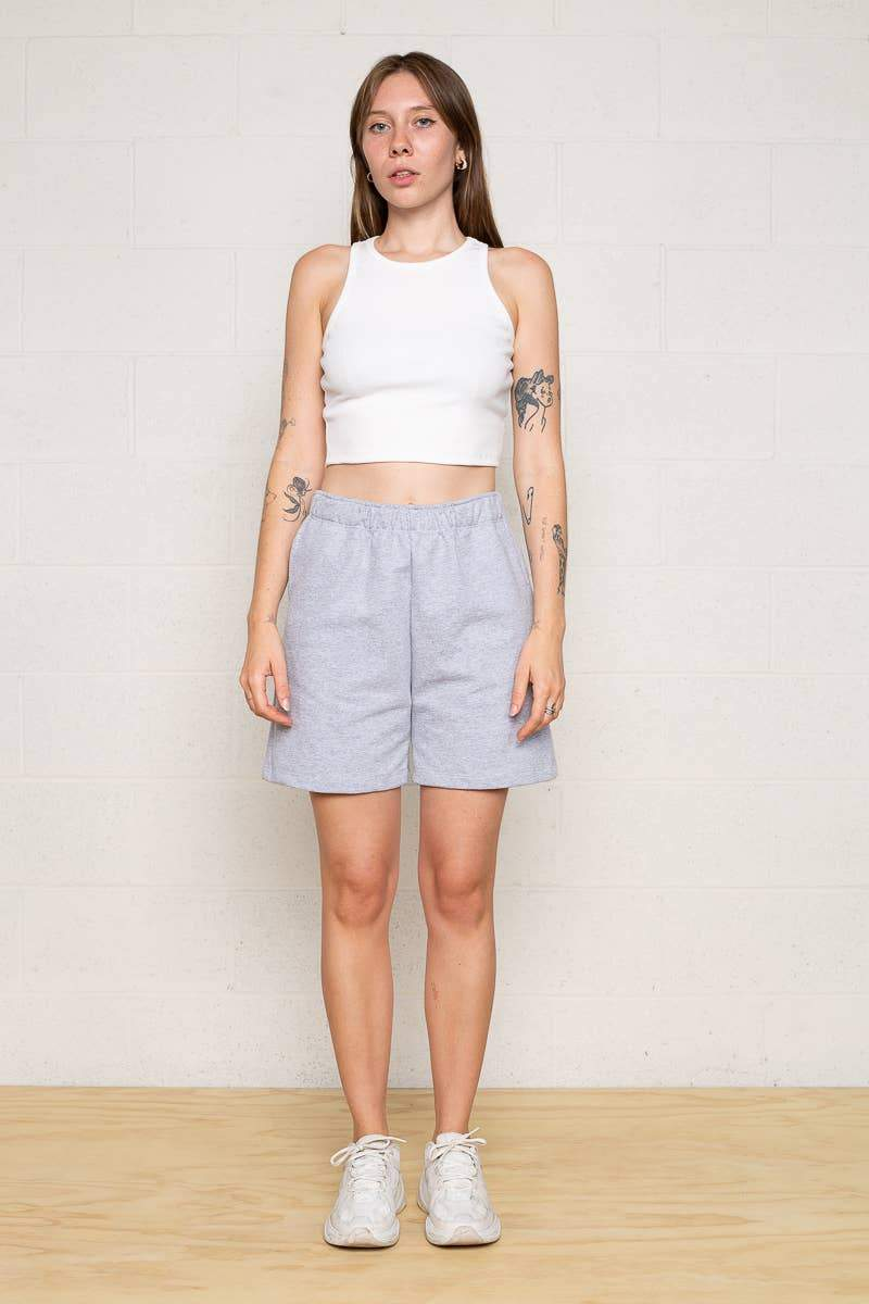 Easy French Terry Sweat Shorts Heather Grey NLT