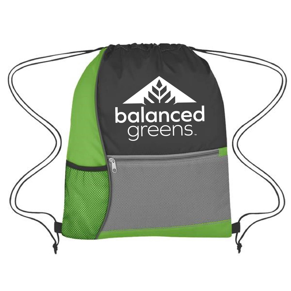 Load image into Gallery viewer, Balanced Greens Drawstring Bag