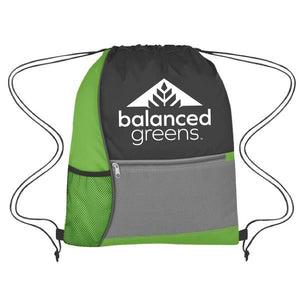 Balanced Greens Drawstring Bag