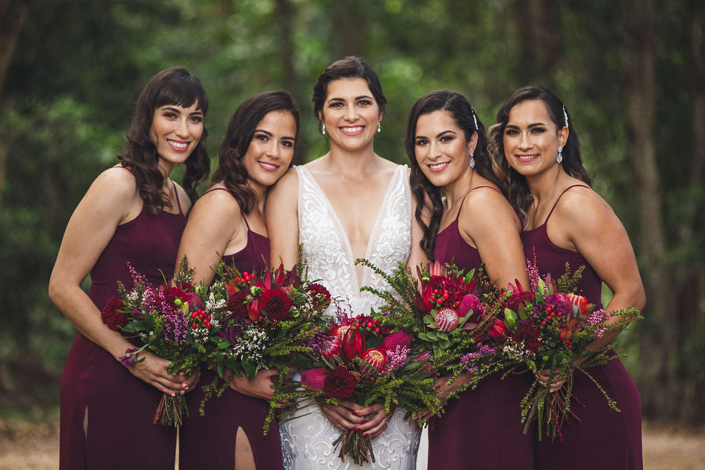 bridesmaid bouquet australian natives
