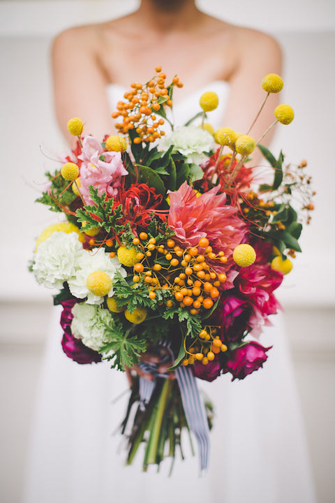 billy button bouquet