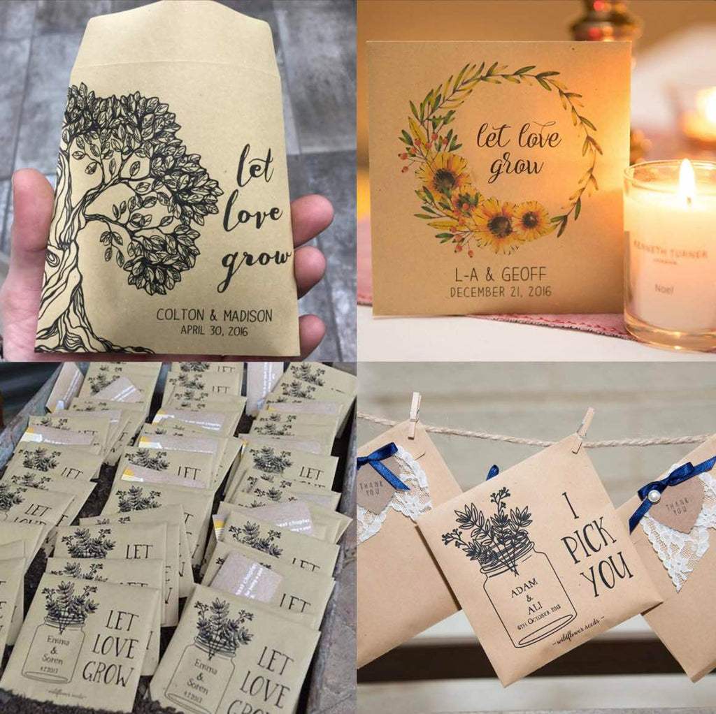 wedding favour seed packet