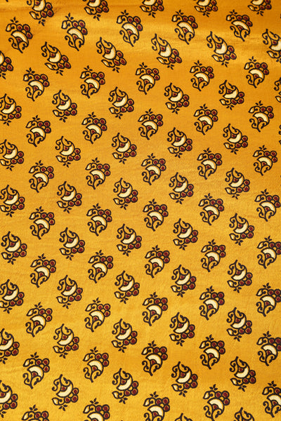 Golden Mashru Fabric - GleamBerry