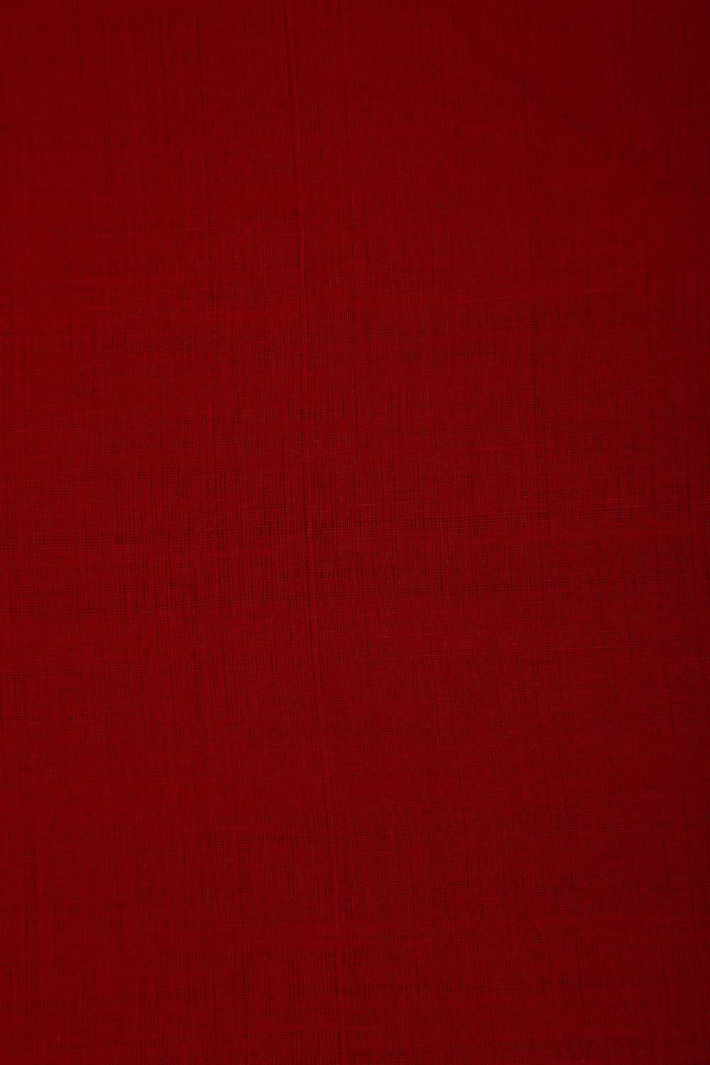Red Handloom Mangalgiri Cotton Fabric - GleamBerry