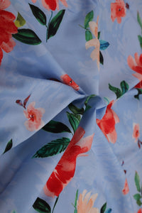 American Crepe Digital Print Fabric - GleamBerry